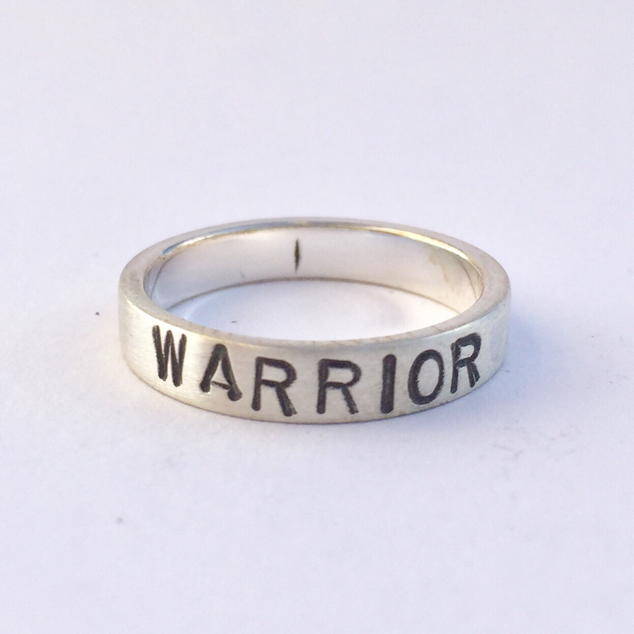 Warrior Ring Sterling Silver 4mm (thin) band