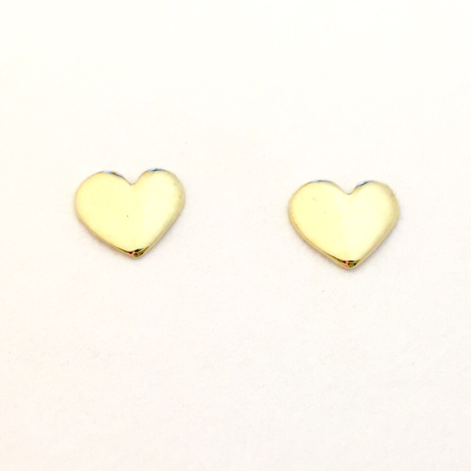 6mm Tiny 18k #HeartofGold💛 stud earrings