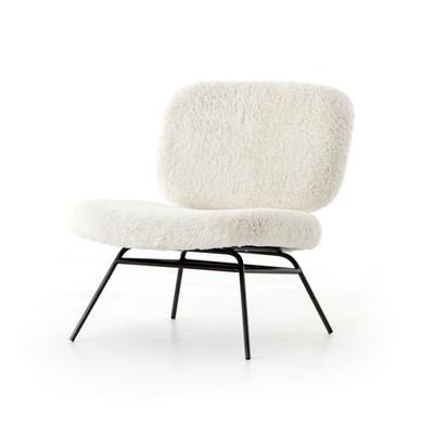 Caleb Faux Angora Lounge Chair