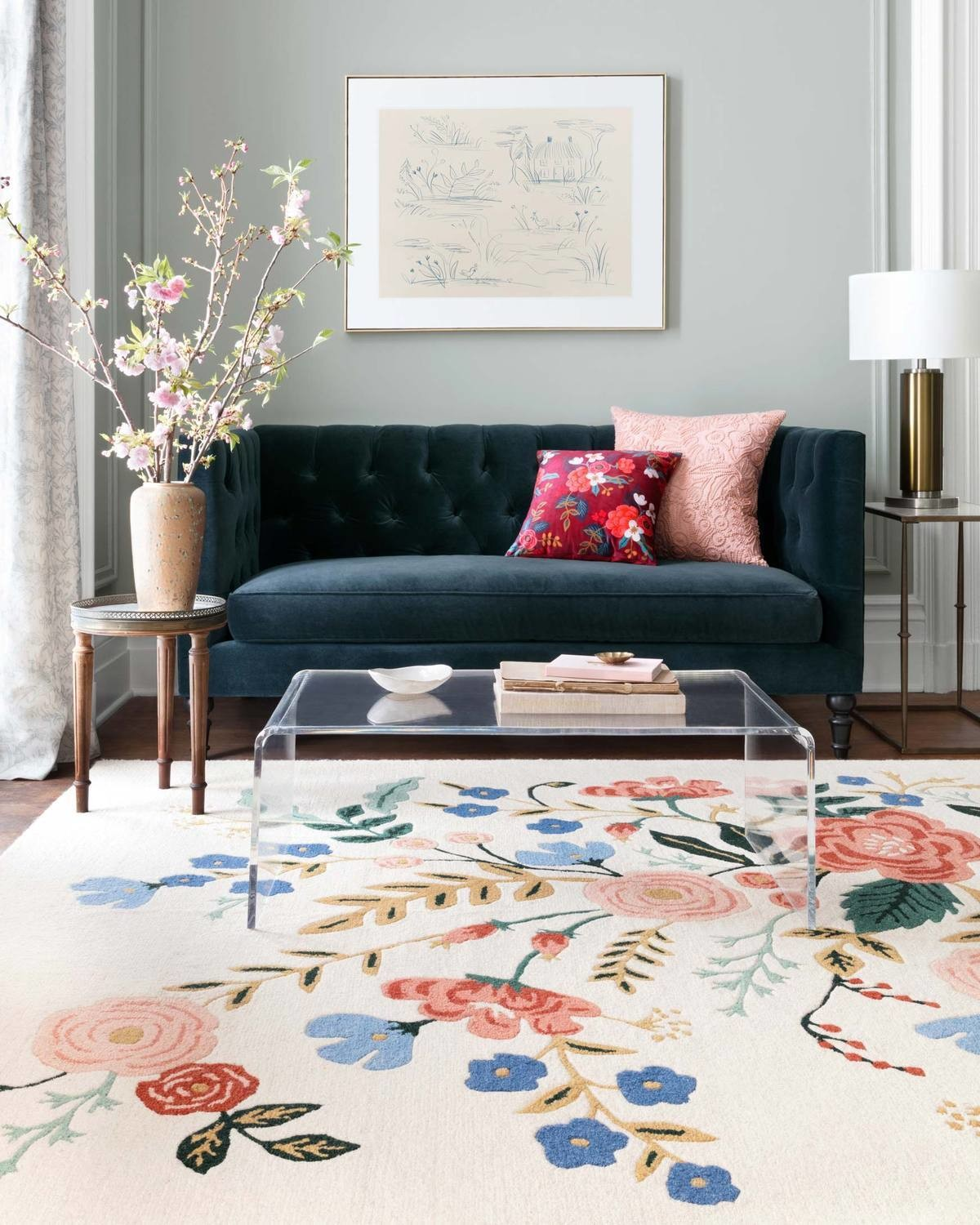 Les Fleurs Rug Collection by Rifle Paper