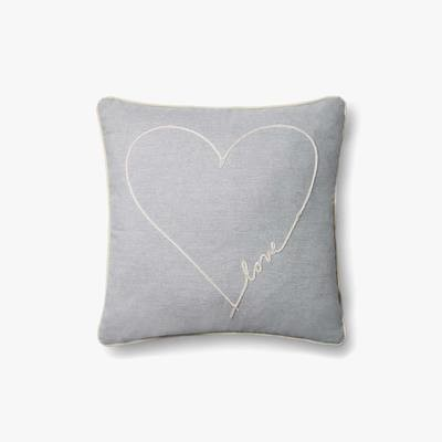 P4070 ED Love Grey Indoor Outdoor Pillow