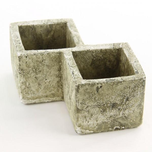 Double Square Concrete Planter