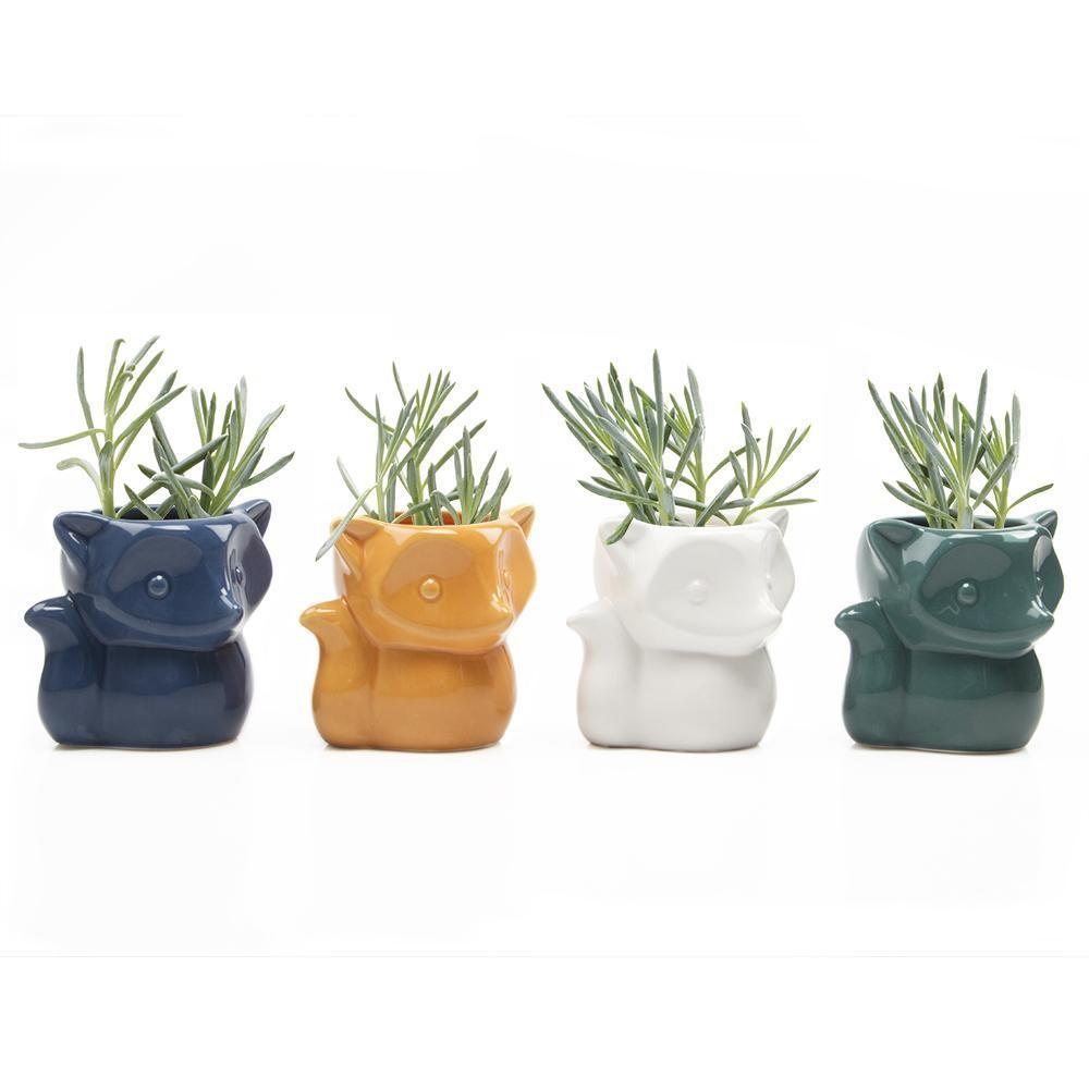 Fox Vase Green or White