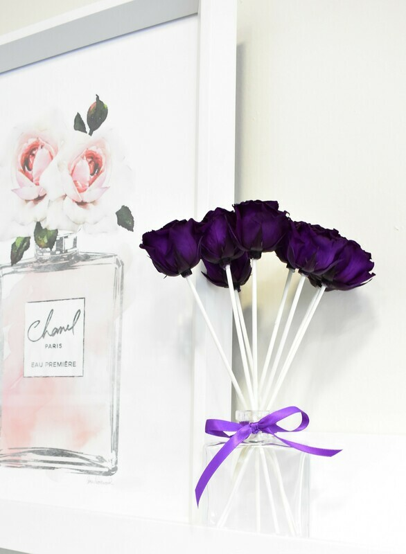 MelroseFields Classic Purple Rose Reed Diffuser Kit