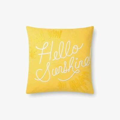 P6031 Rifle Paper Yellow/White Hello Sunshine Pillow