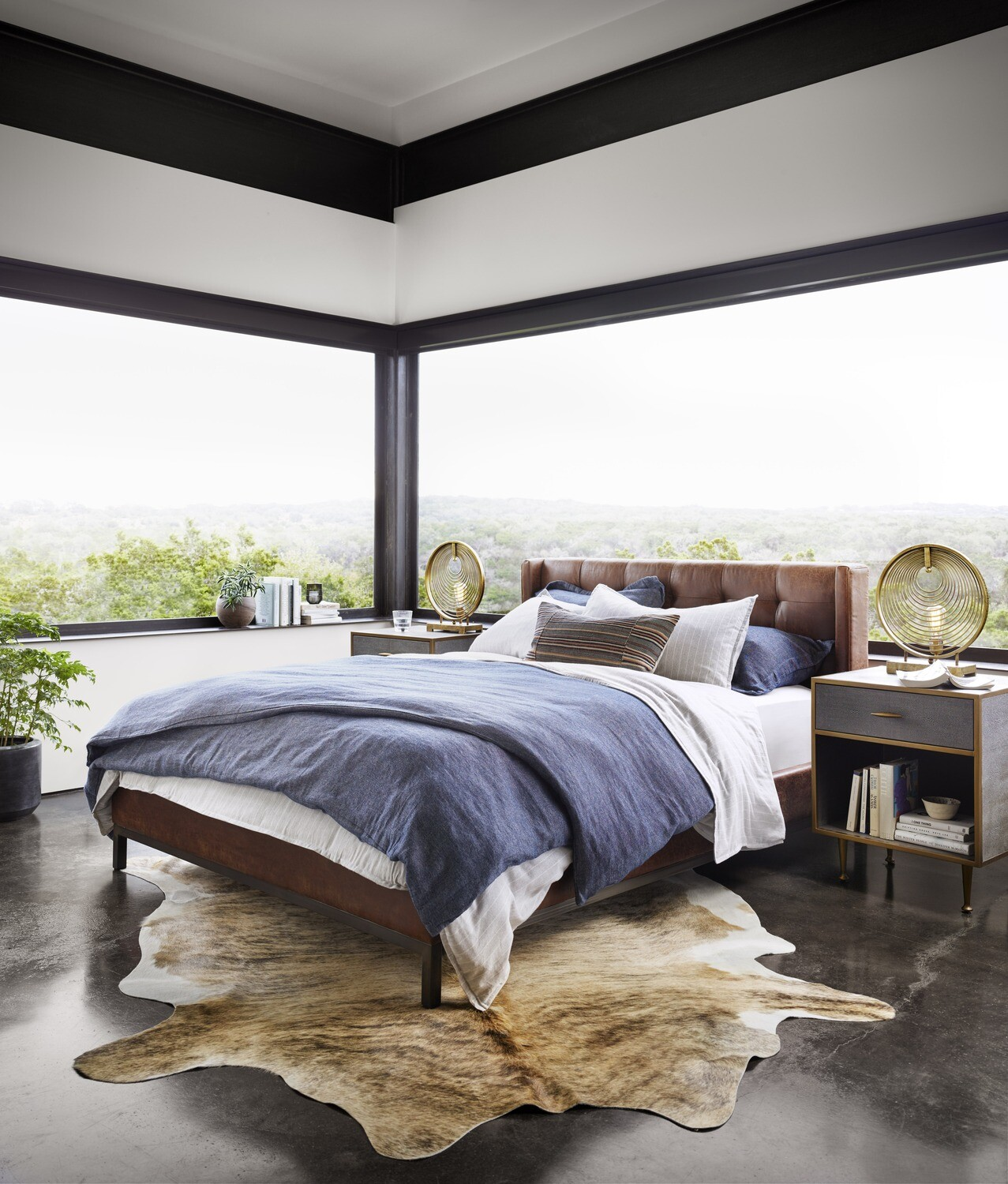 Newhall Leather Bed