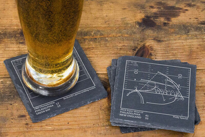 Coaster Set, Greatest Plays of Your Favorite Sports Team