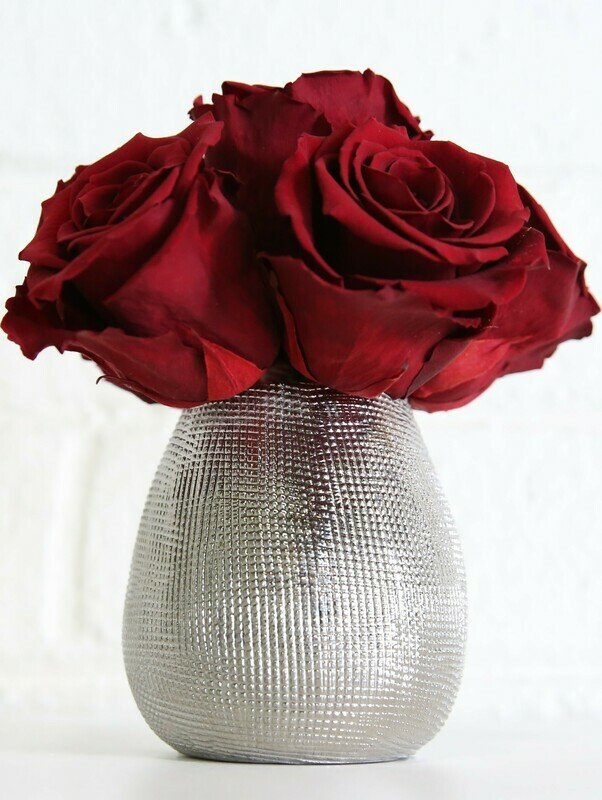 Mesh Pot Preserved Roses