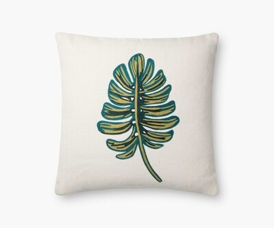 Monstera Embroidered Pillow by Rifle Paper