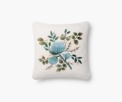 P6035 Botanical Embroidered Pillow