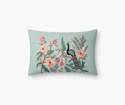 Shanghai Embroidered Pillow by Rifle Paper