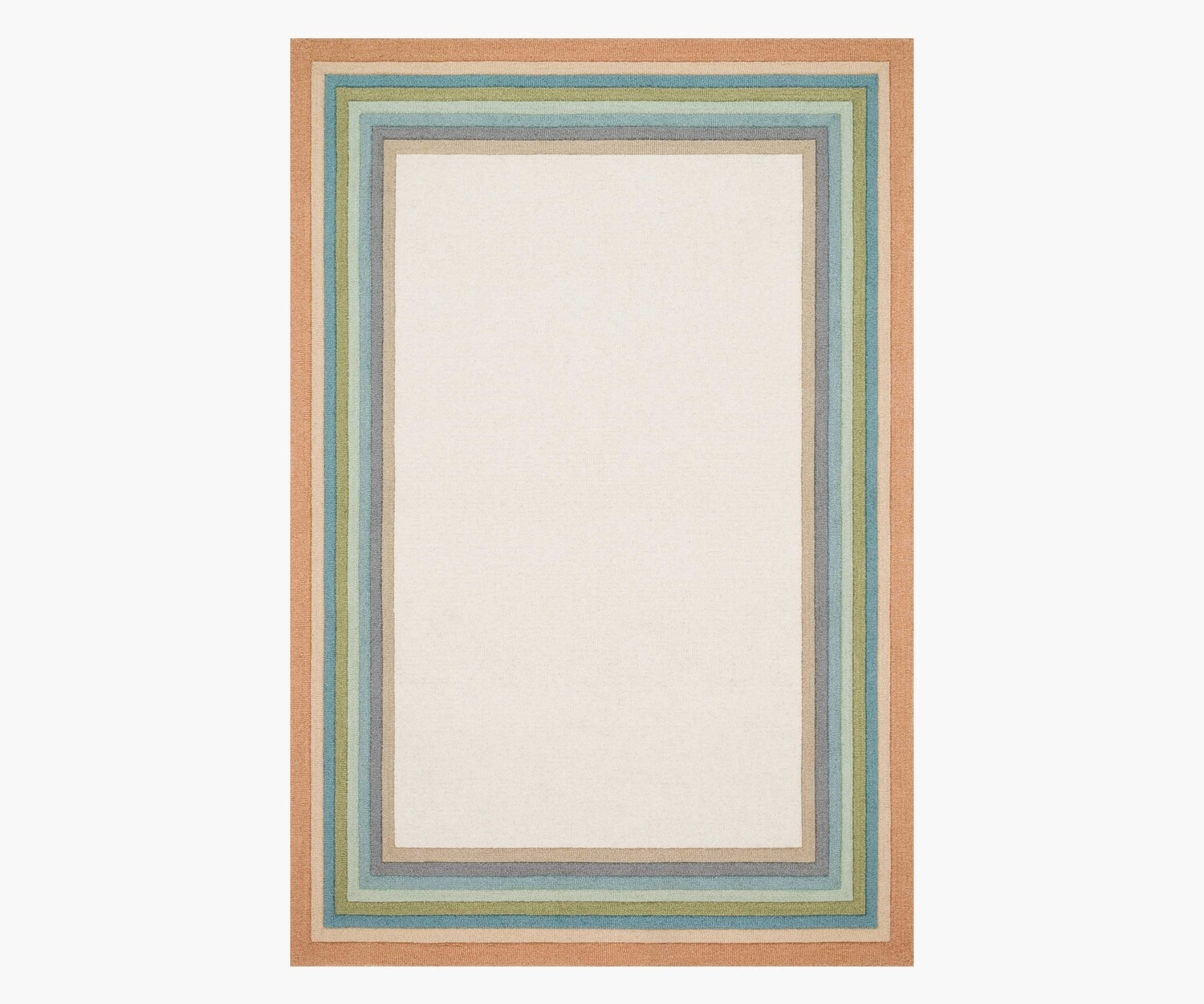 Painted Stripe Wool Rug by Rifle Paper