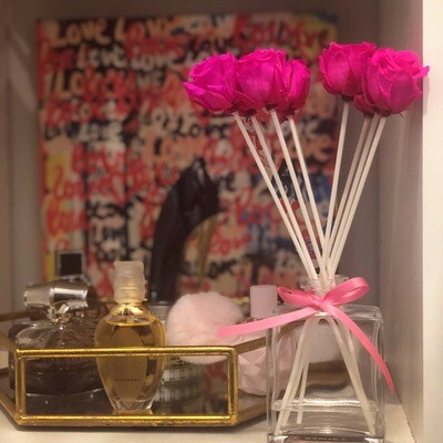 MelrosFields Classic Pink Rose Reed Diffuser Kit