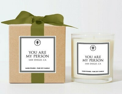 You Are My Person Candle