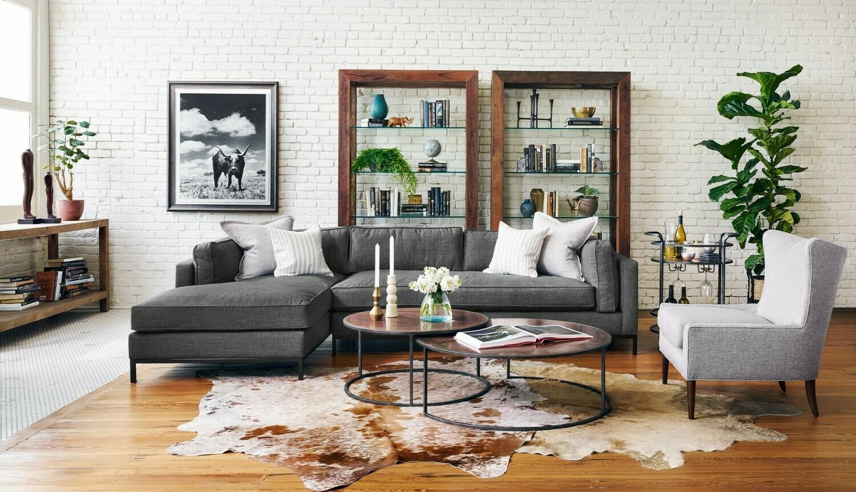 Grammercy 2 Piece Chaise Sectional - Dark Sofa
