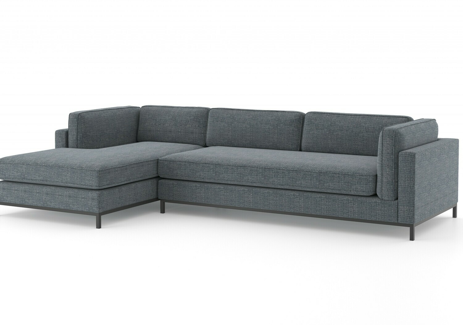 Grammercy 2 Piece Chaise Sectional - Cypress Navy