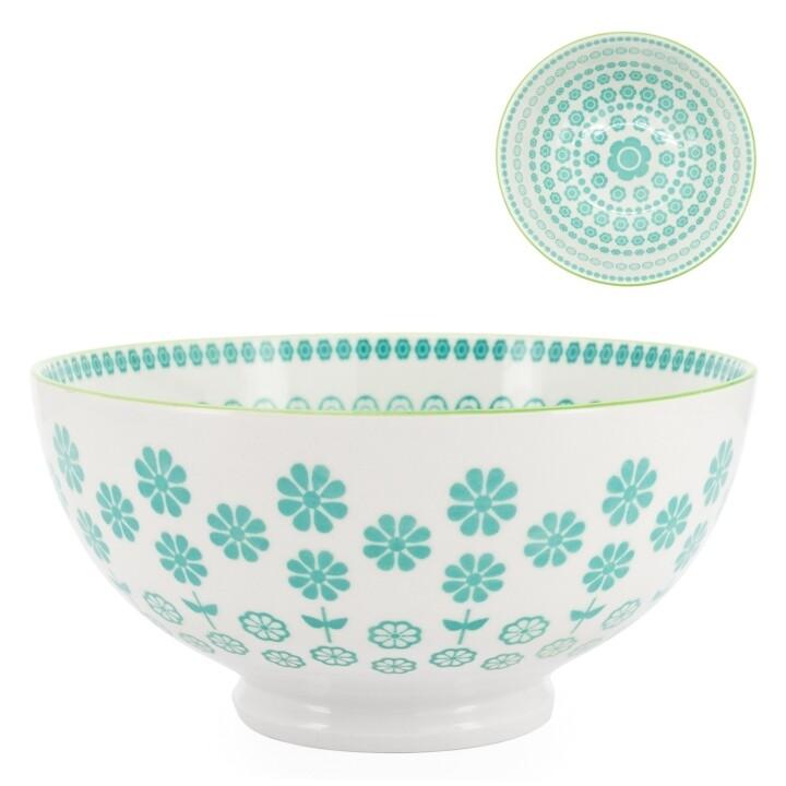 Kiri Turquoise Porcelain Bowl