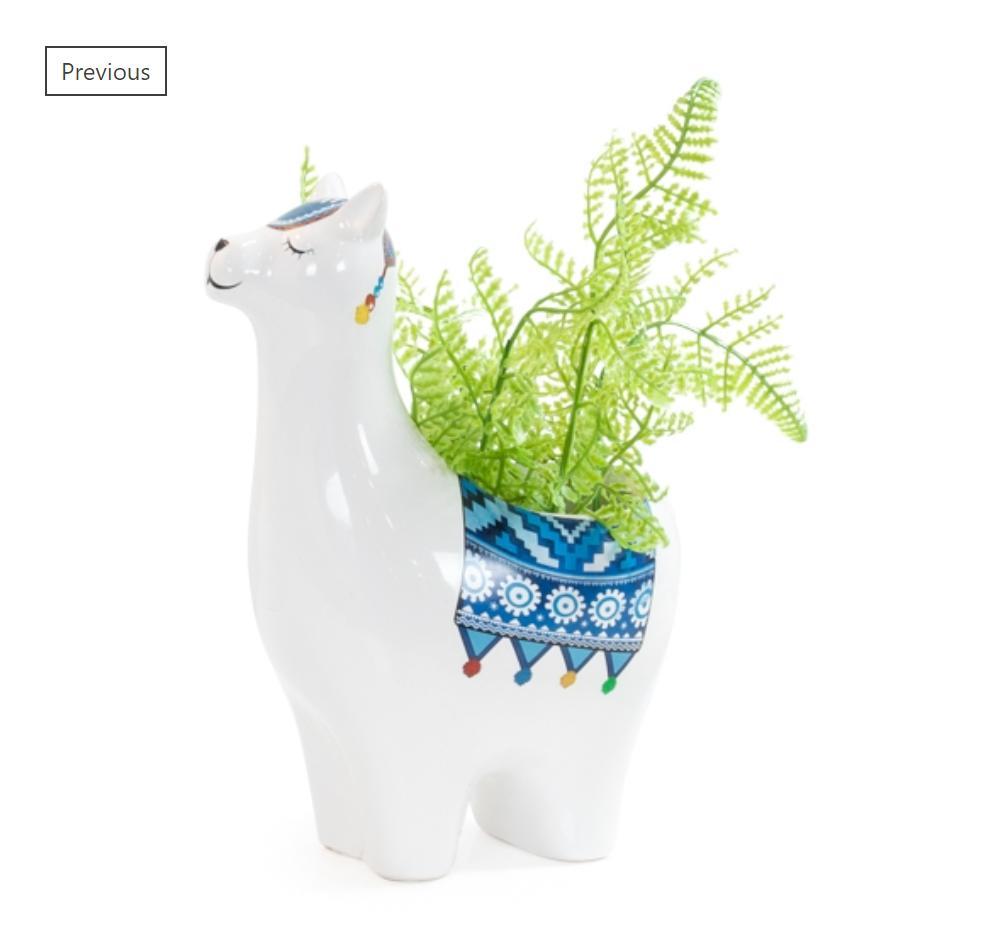 Small Llama Planter