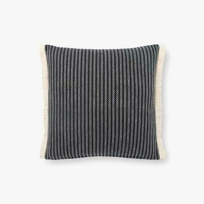 ED Striped Fringe Pillow