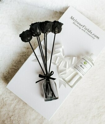 MelroseFields Mini Black Rose Reed Diffuser Kit