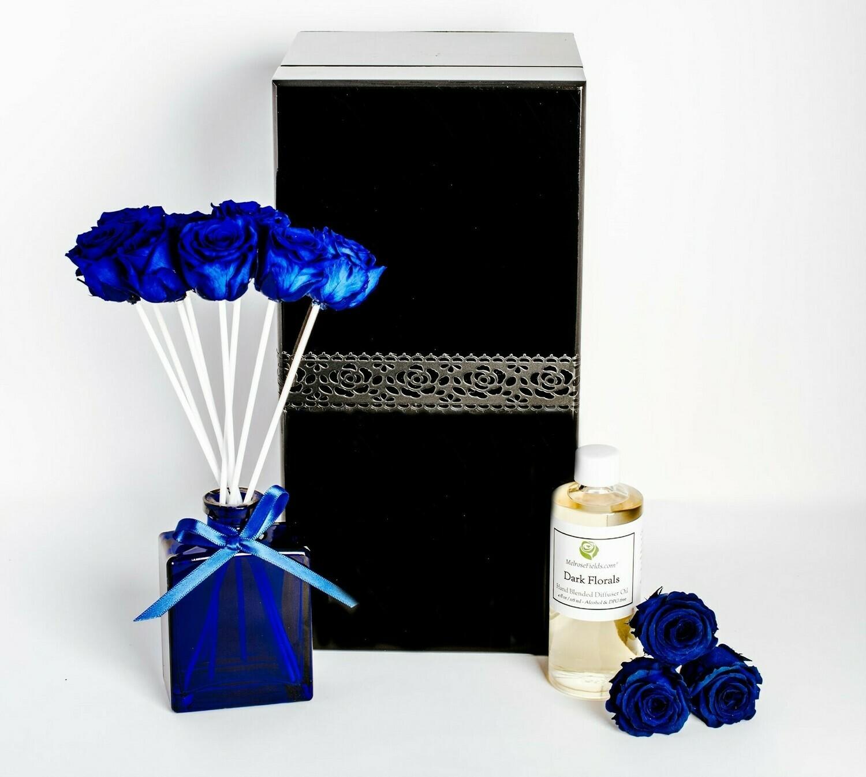 MelroseFields Jewel Blue Rose Reed Diffuser Kit