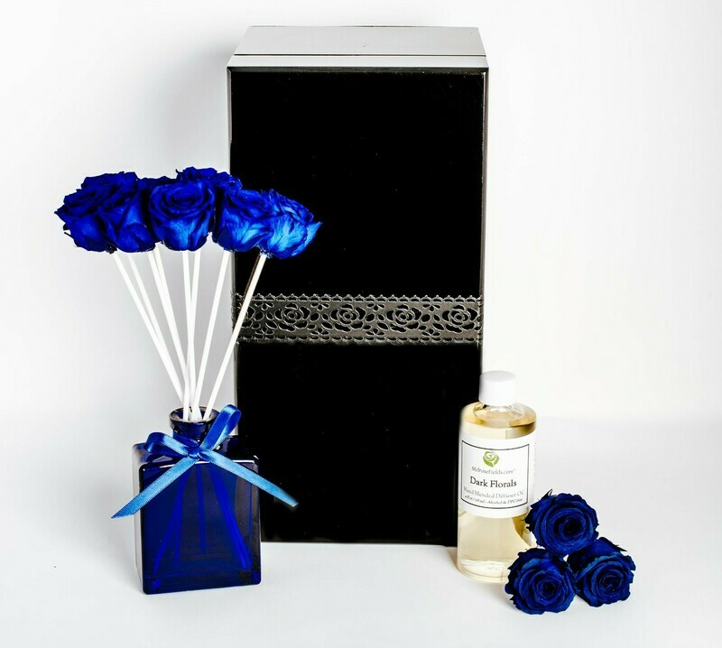 MelroseFields Jewel Blue Rose Reed Diffuser Kit