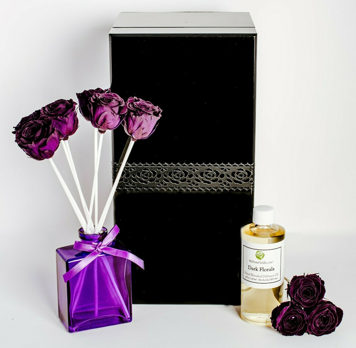 MelroseFields Jewel Purple Rose Reed Diffuser Kit