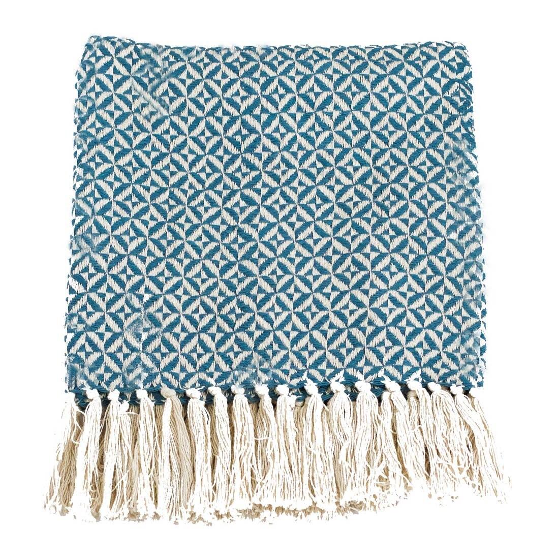 Pinwheel Two Tone Cotton Throw
