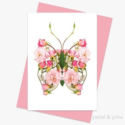 Butterfly Pearls Greeting Card