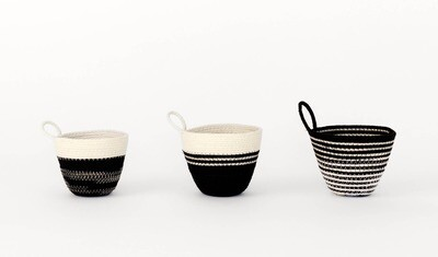 MOkun Mini Black and White Planters