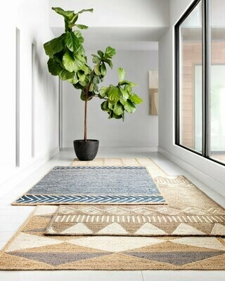 Redondo Jute Rug by Loloi Natural