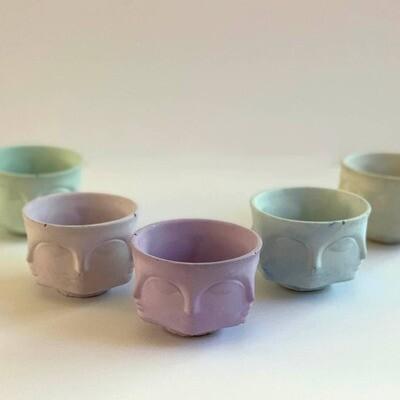 Uno Atelier Faces Decorative Pot - Mini