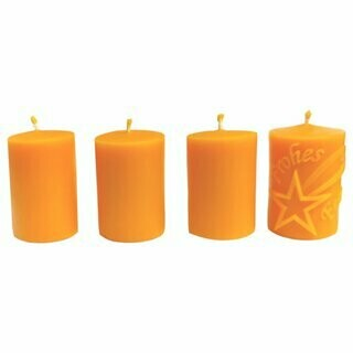 4er Adventkranz-Stumpen Set
