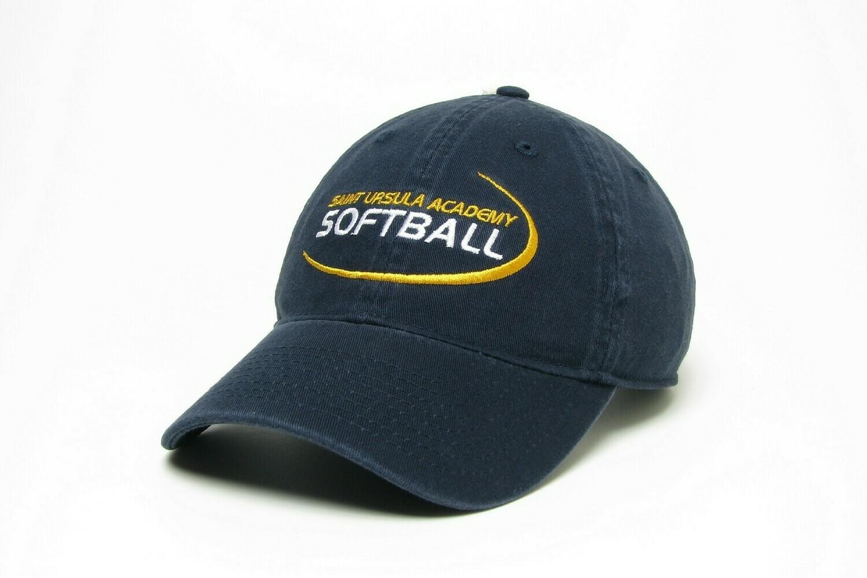 Hat - Navy - Softball Swoosh