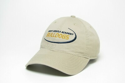 Hat - Khaki - Bulldog Swoosh