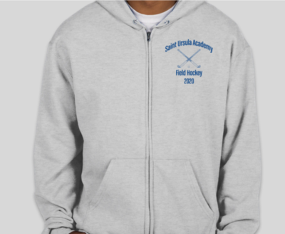 Field Hockey Team Spirit Wear Unisex Full Zip Sweatshirt