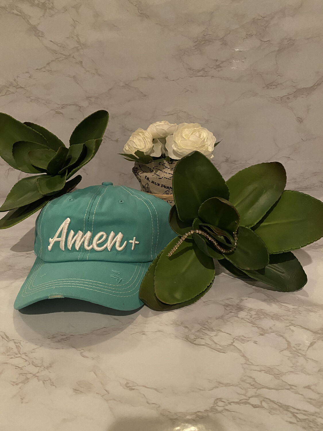 Amen Embroidery Hat