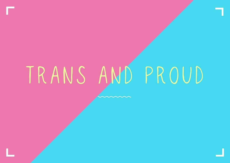 Trans & Proud postcard