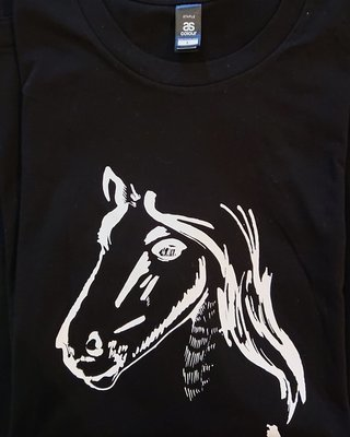 Show Ponies T-shirt - Black and White - Large