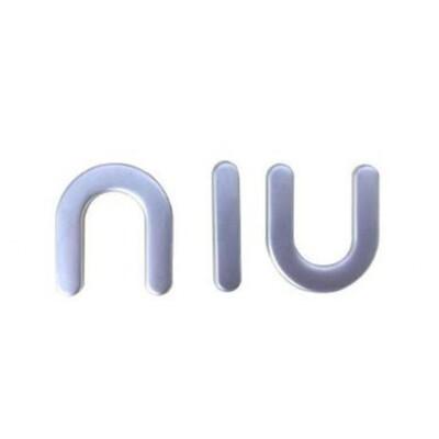 NIU Marken-Emblem Aufkleber in 3D