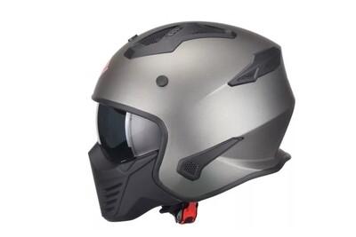 Jet-Helm Vito Bruzano matt Titanium