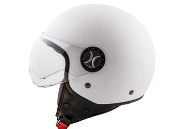 Jet-Helm Loreto weiss glänzend