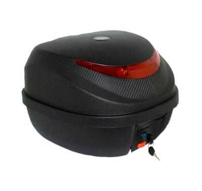 Topcase schwarz 32l mit Rückenlehne