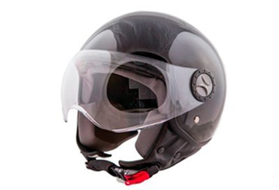 Jet-Helm Loreto glänzend schwarz