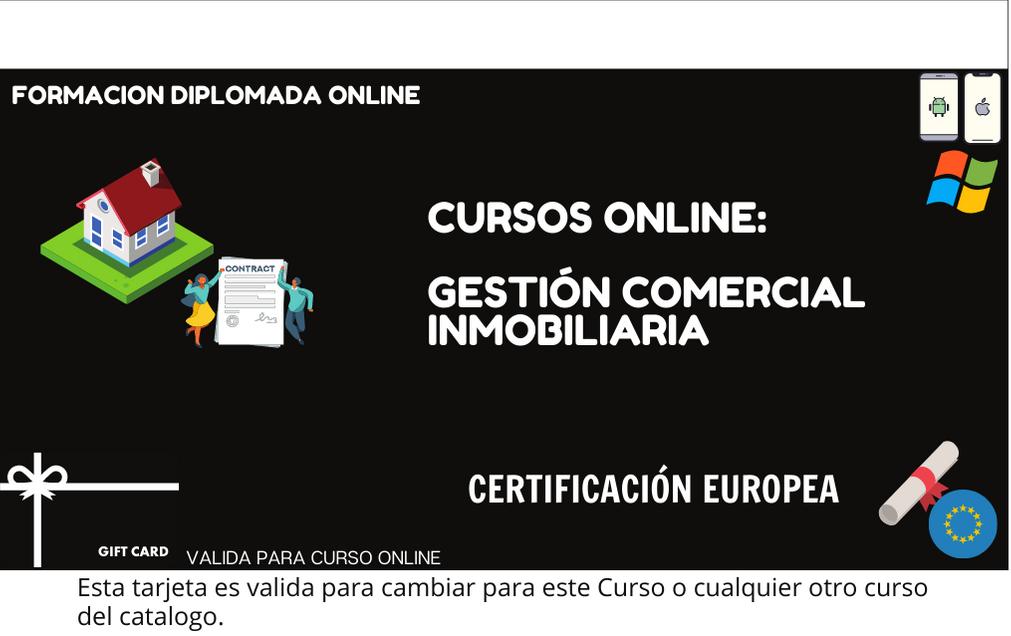 Curso de Ventas, Gestión Comercial Inmobiliaria con Certificado