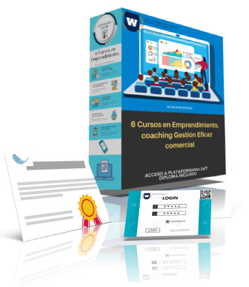 6 Cursos Online en Emprendimiento, coaching Gestión Eficaz comercial