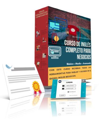 Curso Online de Inglés completo para negocios / Curso completo de inglés Básico + Medio + Avanzado