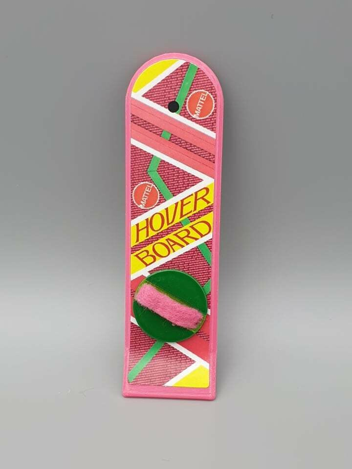 DeLorean 1:8 scale Hoverboard only (PINK)