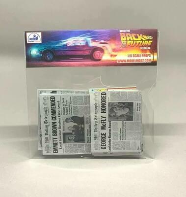 Delorean 1:8 scale miniature Paper Props (Pack 3)