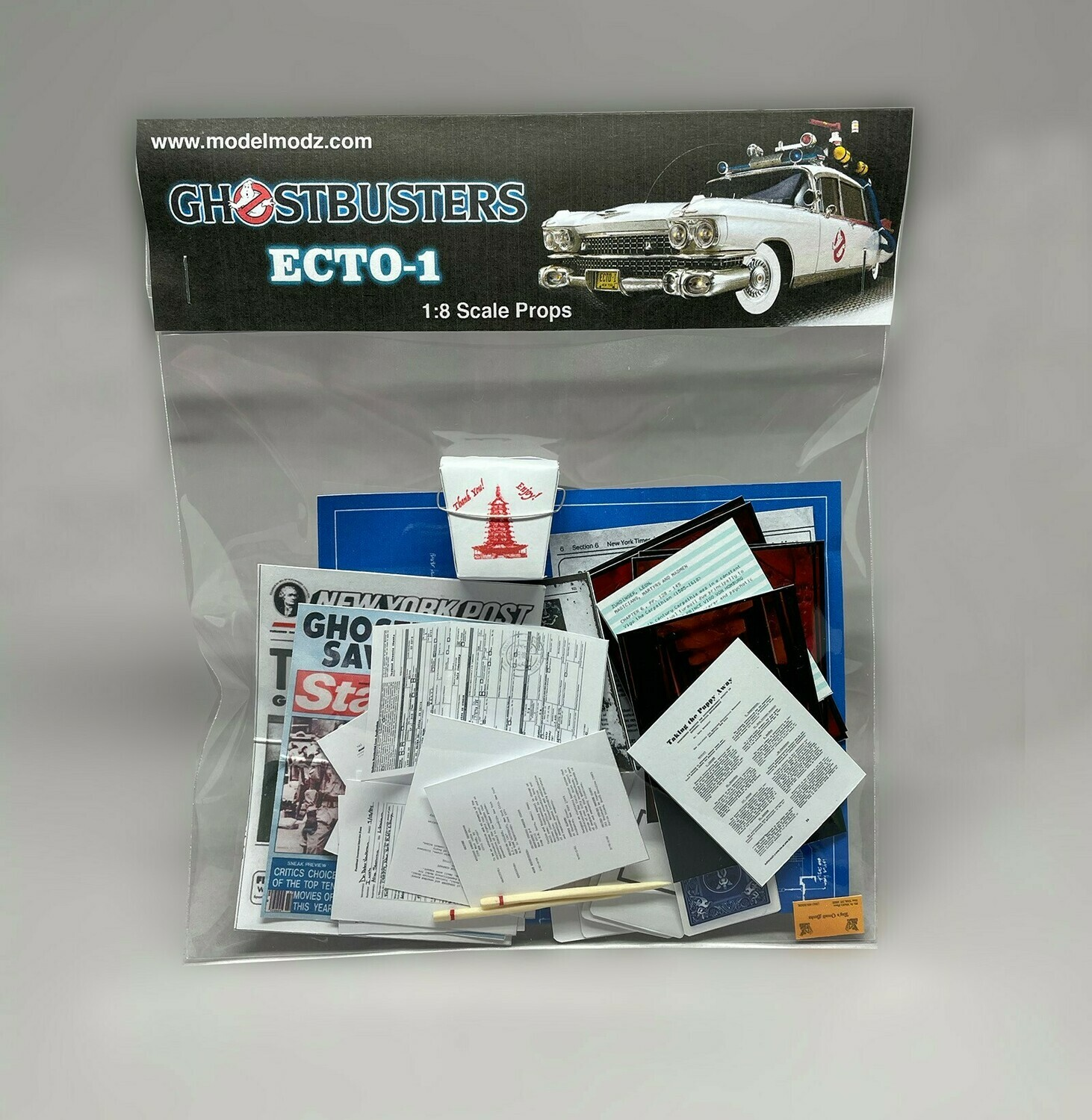 Ghostbusters 1:8 Scale Ecto-1 Miniature Paper Props (pack 2)